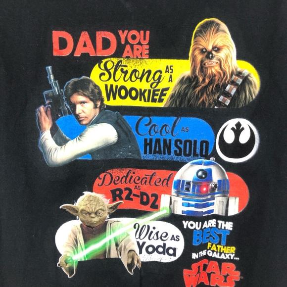 Star Wars Father's Day Dad Joke T-Shirt Large Yoda
